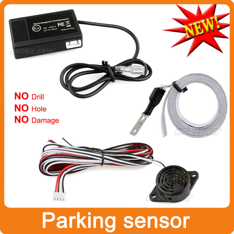 Easy Install Auto Electromagnetic Parking sensor,no drill no hole,Car Reverse Parking Radar System Free Shipping(China (Mainland))