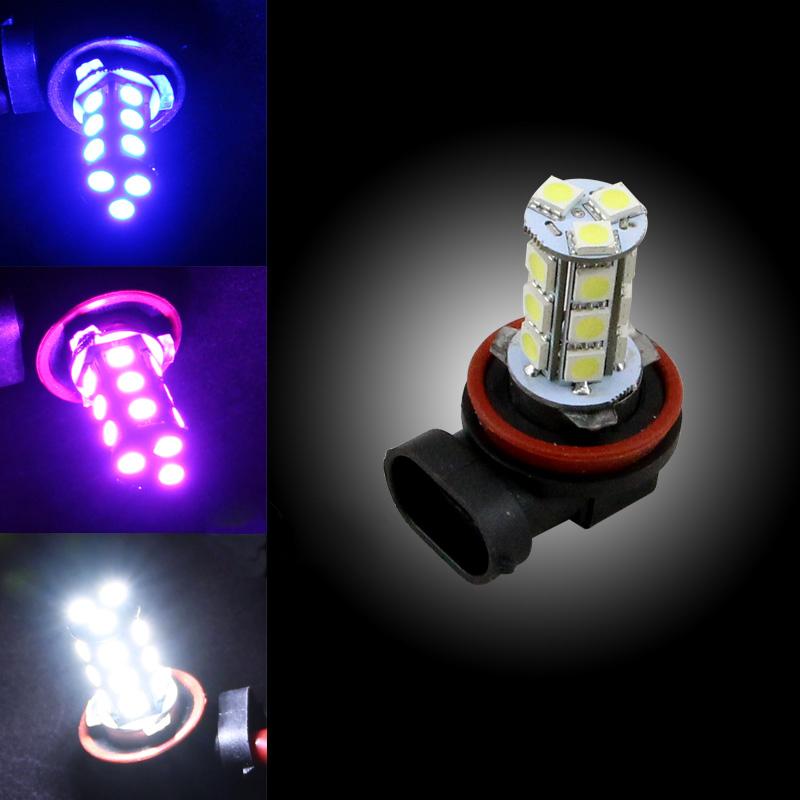 4PCS 12V LED Car H7/H8/H11/9005/9006 27SMD 5050 Fog Light Auto Headlight Bulbs White Blue Red Yellow Lamp Daytime Running Light(China (Mainland))