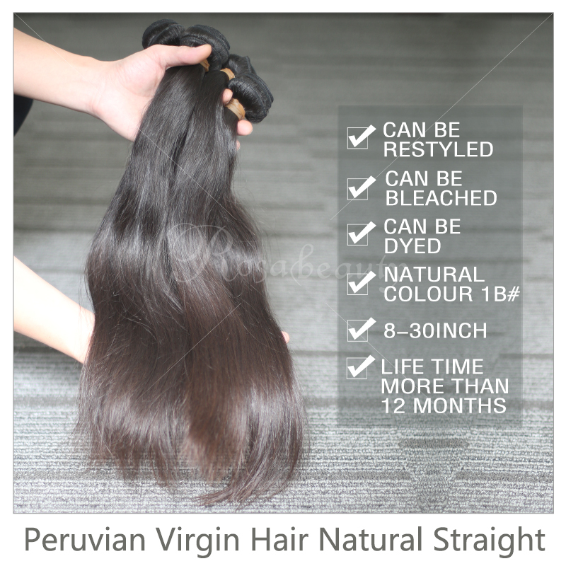 5pcs/lot,Peruvian human hair extension straight textures,luvin hair with shipping free by dhl(China (Mainland))