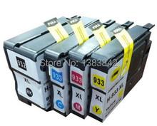 Бесплатная доставка, 4X картридж для HP932 HP 932 / 933 Officejet 6100 6600 6700 7110 с чипом