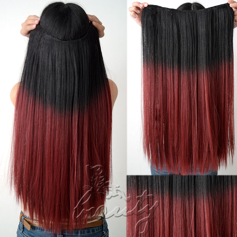 Brown To Red Ombre Hair Extensions 20