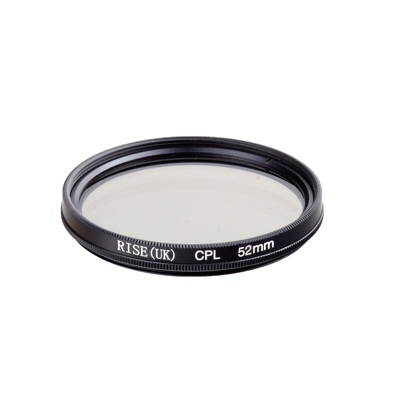 RISE(UK) 52mm circular polarising CPL filter for Nikon D3100 D3200 D5100 D5000 D3000 D40 kit(China (Mainland))