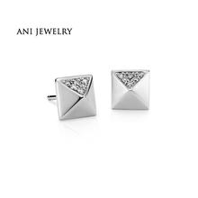 Buy ANI 14K White Gold Women Stud Earrings 0.08 CT Certified I/S2 Natural Diamond Romantic Wedding Stud Earrings Women Fine Jewelry for $357.03 in AliExpress store