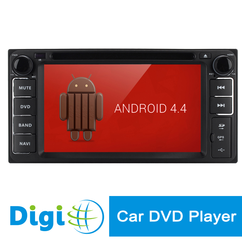 New 6.2 TFT Inch 2 DIN Car DVD Player for Toyota Android 4.4 RK3066 Dual Core Processor GPS/Wi-Fi/3G Support 800X480 Screen(China (Mainland))