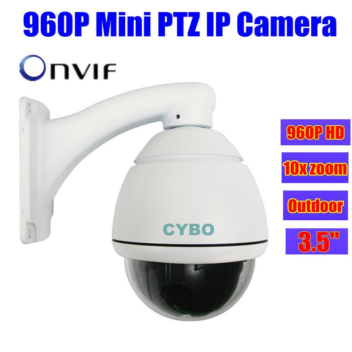 Zoom Outdoor 1.3MP cctv Security Mini ip camera PTZ HD 960P Speed Dome Onvif waterproof surveillance ip cam Cameras de seguridad