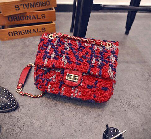 Англия попал в цвет шерстяное плед цепи, Новый отделаться из твидовые сумка, Эксклюзивный дизайн новых женщин сумки