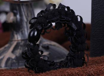 TS0404 High Elastic Rubber Band Headdress Noble Nest Braids Hair Accessories Hair Ring Random Color