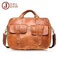 JOYIR Fashion genuine leather man Briefcase handbags cowhide leather crossbody bag men messenger bags men gift