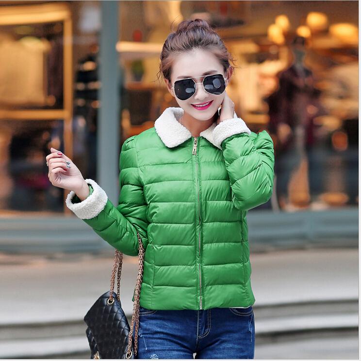 2015 New Lamp Wool Collar Winter Jacket Women Short Cotton Jacket  Winter Coat Women Fashion Women Winter Jackets Coats ParkasОдежда и ак�е��уары<br><br><br>Aliexpress