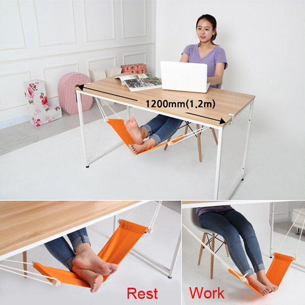 Portable Mini Office Foot Rest Desk Feet Hammock Stand Easy to Disassemble Study Outdoor Home(Hong Kong)