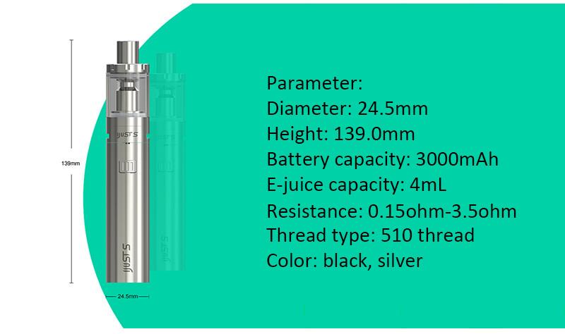 ถูก เดิมEleaf iJust Sชุดบุหรี่อิเล็กทรอนิกส์iJustS 3000มิลลิแอมป์ชั่วโมงแบตเตอรี่4มิลลิลิตรเครื่องฉีดน้ำVaporizer 0.18ohmหัวVape