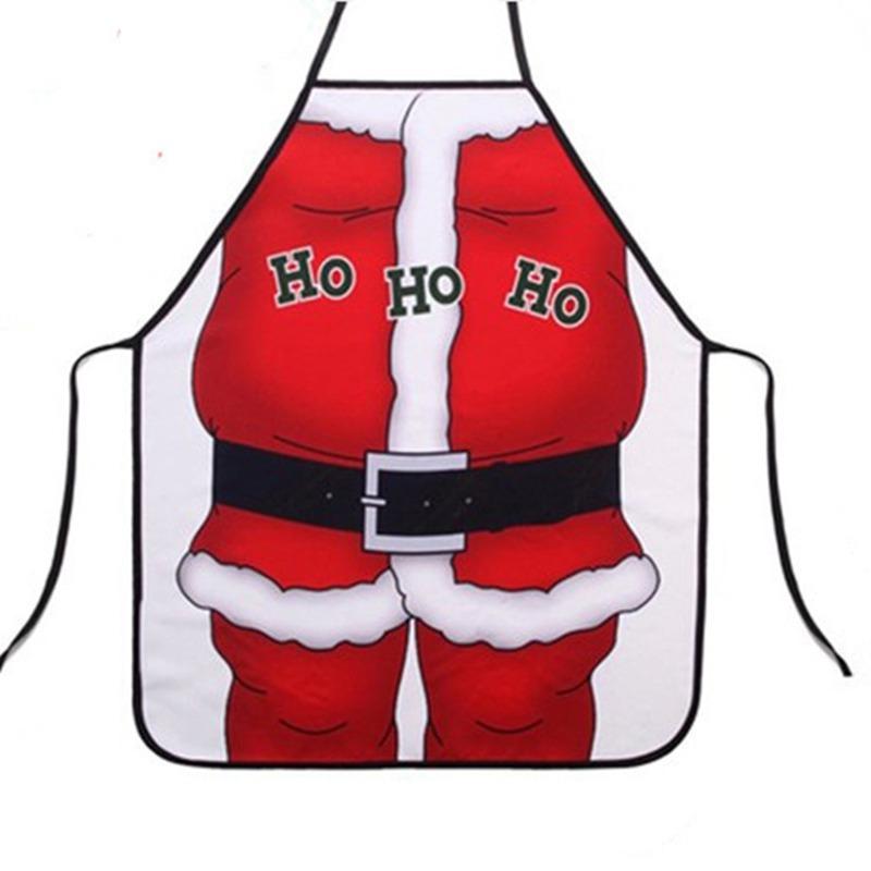 1pcs Novelty Personalized Funny Gifts Santa Claus Apron Kitchen Garden Apron 50*70cm(China (Mainland))