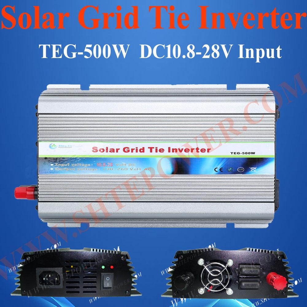 Grid tie solar micro inverter 500w, 12v/24v dc to 110v/120v/220v/230v/240v ac solar grid inverter, on grid micro inverter(China (Mainland))