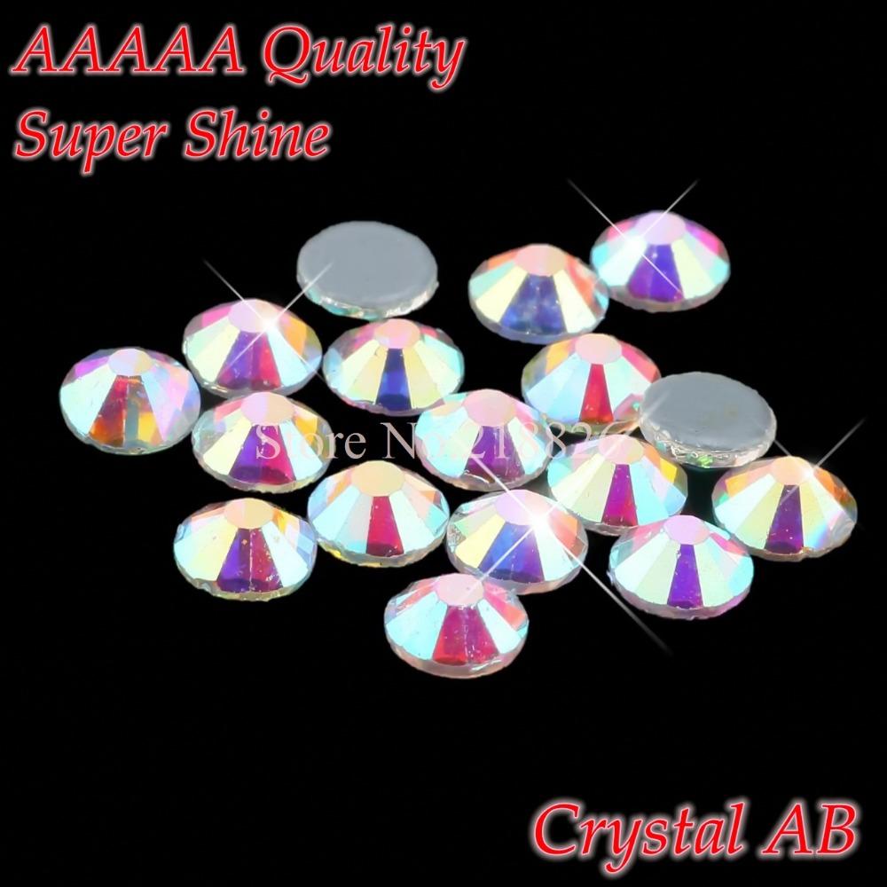 Super Shine! AAAAA Luxury SS20 4.6-4.8mm Crystal AB Hotfix Glass Crystals Flatback Iron On Hot Fix Rhinestone(China (Mainland))