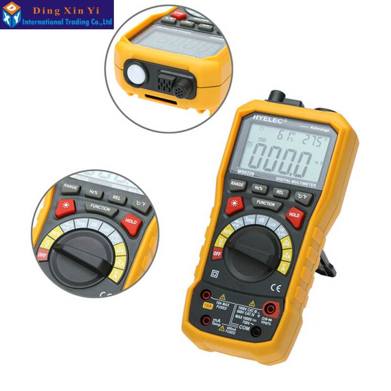 HYELEC MS8229 5 in 1 Digital Multimeter with Noise Temperature Luminance Test Function multimetro<br><br>Aliexpress