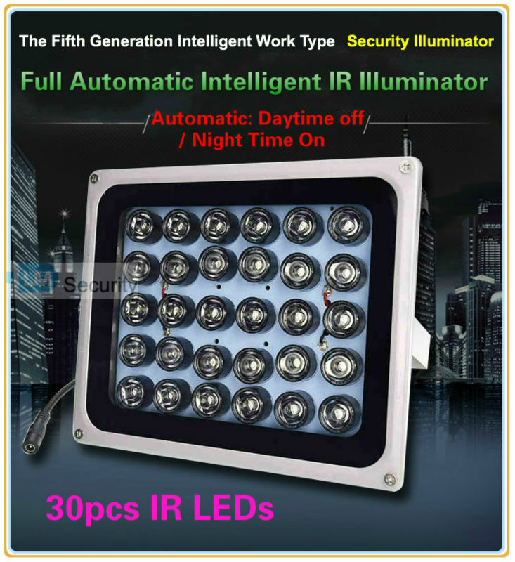 High-End 150m high power 30pc Array LED illuminator Light CCTV IR Infrared Night Vision For Parking lot HighWay Camera assistant(China (Mainland))