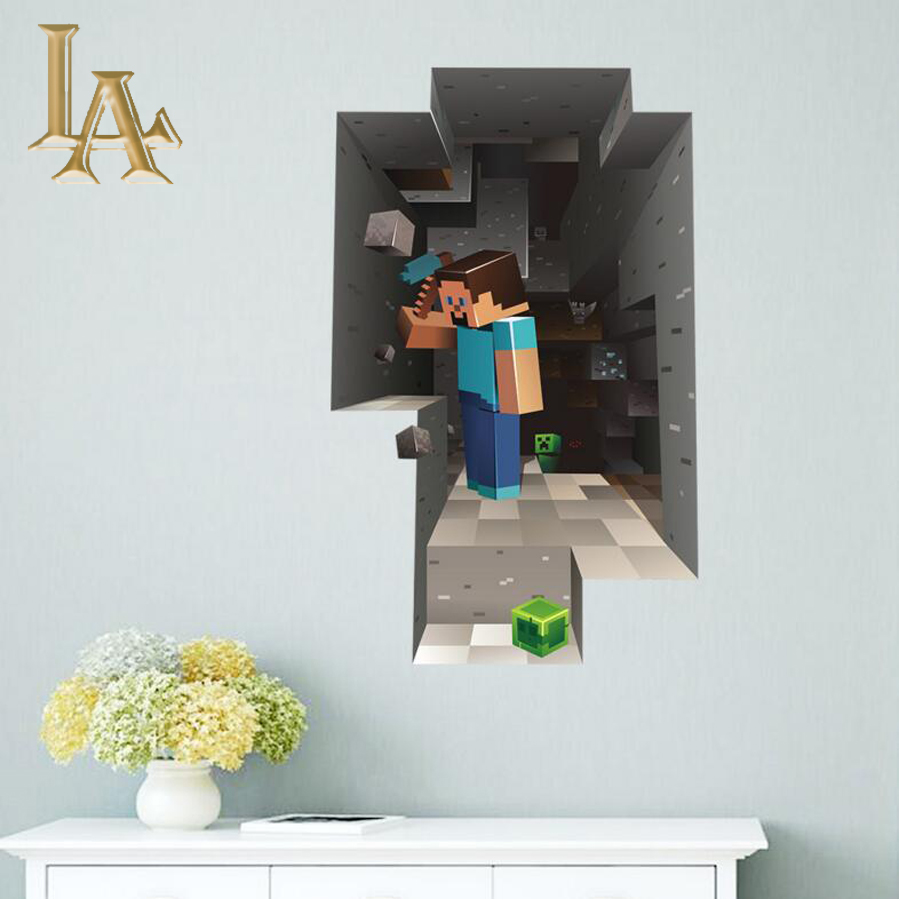 2016 hot sale 3d children wall stickers home decor living for 3d home decoration games