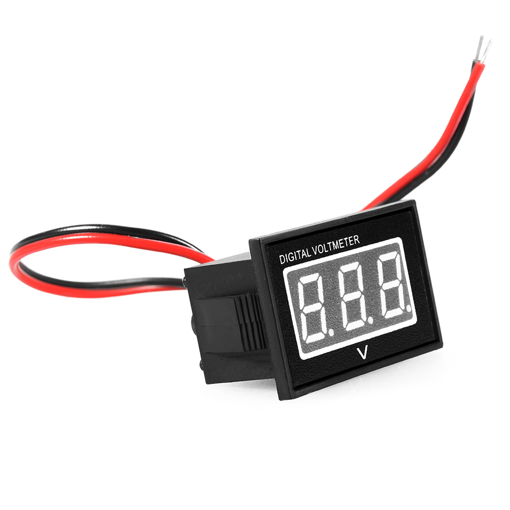 Waterproof Mini Voltmeter 3-30V Volt LED Display Digital Panel Meter Red TE522(China (Mainland))