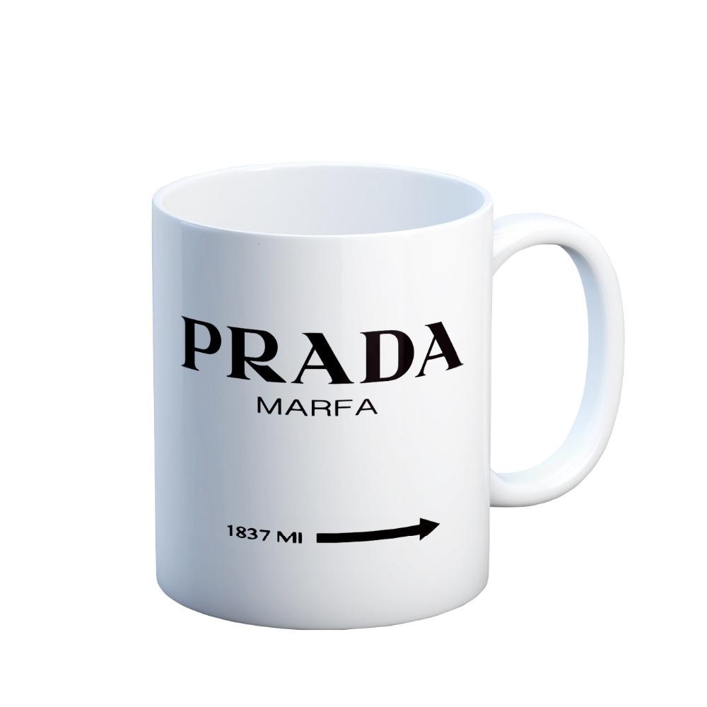Prada Marfa magic coffee mugs gifts magical heat sensitive Black colour change Tea Cups white mug gift(China (Mainland))