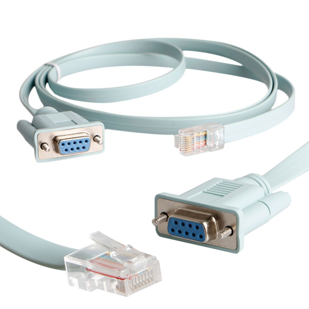 RJ45 Cat5e CAT6 to RS232 DB9 Console Router Cable(China (Mainland))