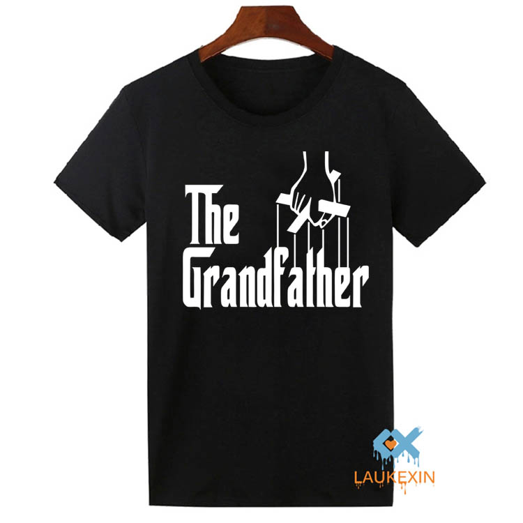 The Grandfather T-shirt Mens Funny Family Grandpa Top Tee Shirts Awesome Father T Shirt Heavy Cotton Short Sleeve Adult tshirt(China (Mainland))