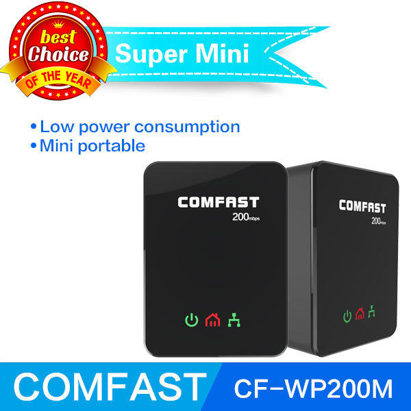 Power line ethernet adapter extender 200Mbps COMFAST 2.4GHz Mini plc home plug network Powerline Adapter kit CF-WP200M(China (Mainland))
