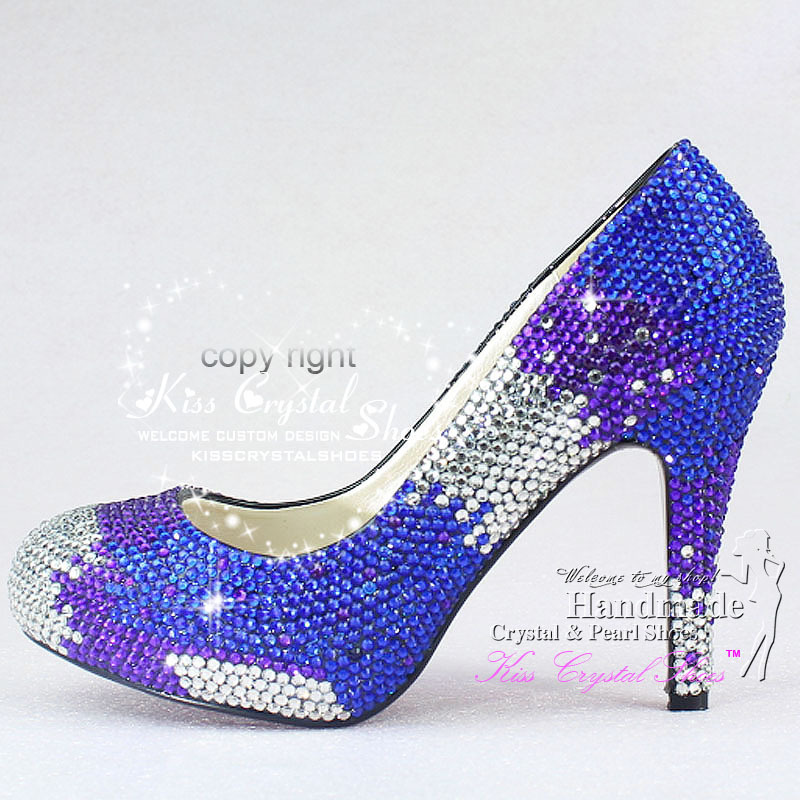 Custom design Luxury Unique New handmade glitter crystal Royal