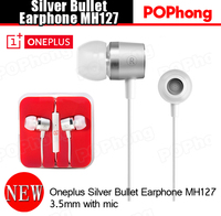 Original Oneplus One Silver Bullet Earphone and Headphone with Mic MH127