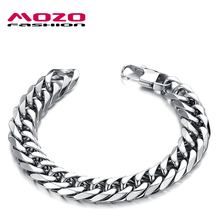 Buy MOZO FASHION Trendy Mens Jewelry 316L Stainless Steel Link Chain Bracelet Male Charm Bracelets Bangles Pulseira Masculina MGS719 for $5.93 in AliExpress store