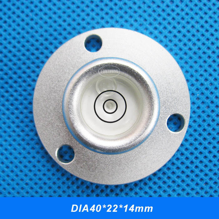 DIA40*22*14mm Aluminum shell Alloy metal shall spirit level bubble Bubble levels with Mounting Holes<br><br>Aliexpress