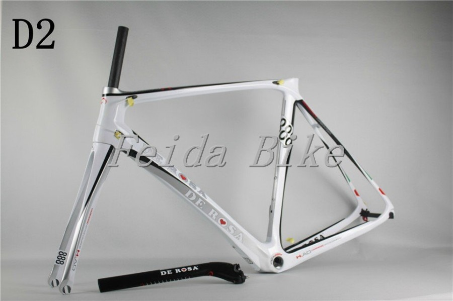 2015 NEW de rosa 888 super king bicycle Carbon road Bike frames COLOR D2 white ,extinction,bright finish695 BH G6 MENDIZ(China (Mainland))