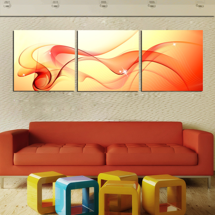 3 panel wall art abstract oil painting on canvas prints for 3 panel painting