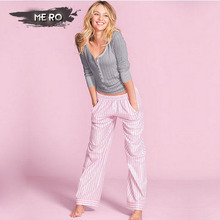 Now available Best sale comfort simple cotton sleepwear spring casual solid color pijamas mujer Pajama Sets homewear for women(China (Mainland))