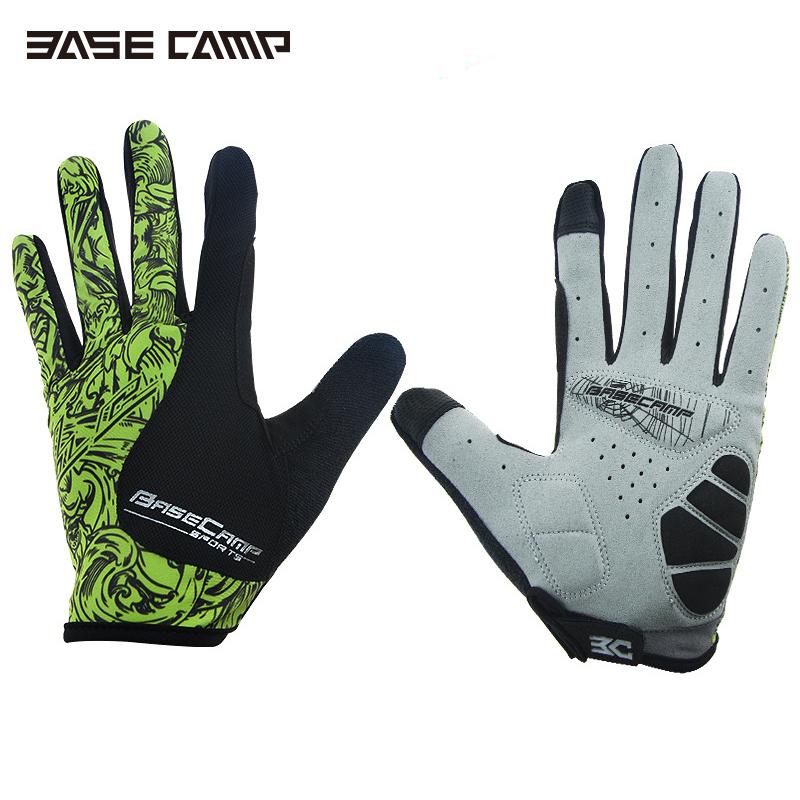 BASECAMP Hot Breathable Cycling Gloves Full Finger Lycra Guante Bicicleta Bici Gants Velo Vtt Bisiklet Eldiveni MTB Handschoenen(China (Mainland))