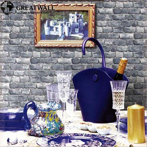 Great Wall PVC modern brick wallpaper for living room luxury wall paper 3D retro brick imitation grain stone grain wallpapers pa(China (Mainland))