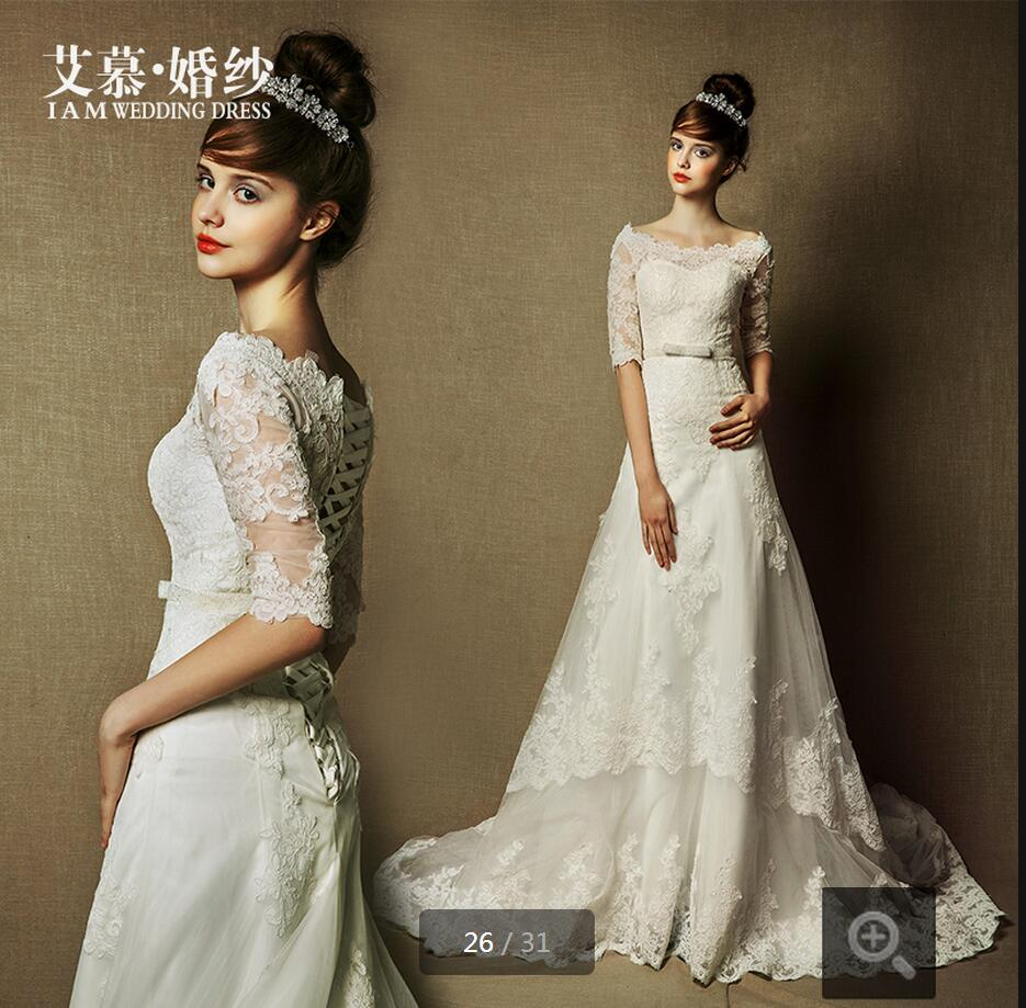Popular modest vintage wedding gowns buy cheap modest for Cheap modest wedding dresses with sleeves