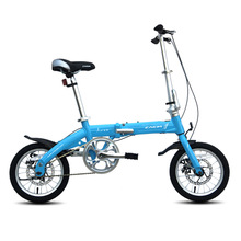 2016 14inch Folding Bike Light Aluminum Alloy cycling bicycle for Youth with disc brake Student bike(China (Mainland))