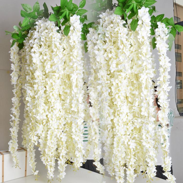 16m artificial wisteria flower rattan vines garlands silk flower 16m artificial wisteria flower rattan vines garlands silk flower for wedding party decorations home ornament flowers for bouquets flowers for wedding mightylinksfo
