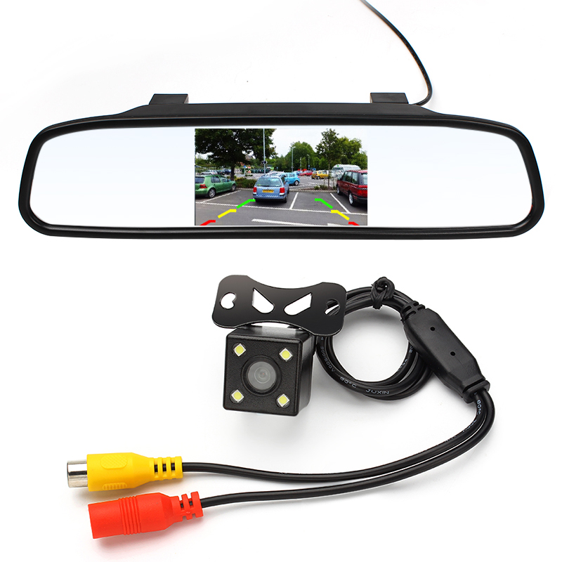 4.3 inch Car Rearview Mirror Monitor Rear View Camera CCD Video Auto Parking Assistance LED Night Vision Reversing Car-styling(China (Mainland))