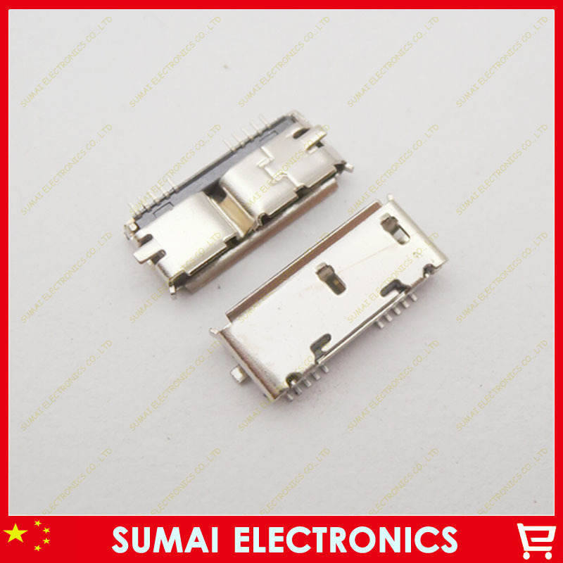 Free shipping 300pcs/lot SMD Micro USB 3.0 Female socket USB 3.0 jack connectors<br><br>Aliexpress