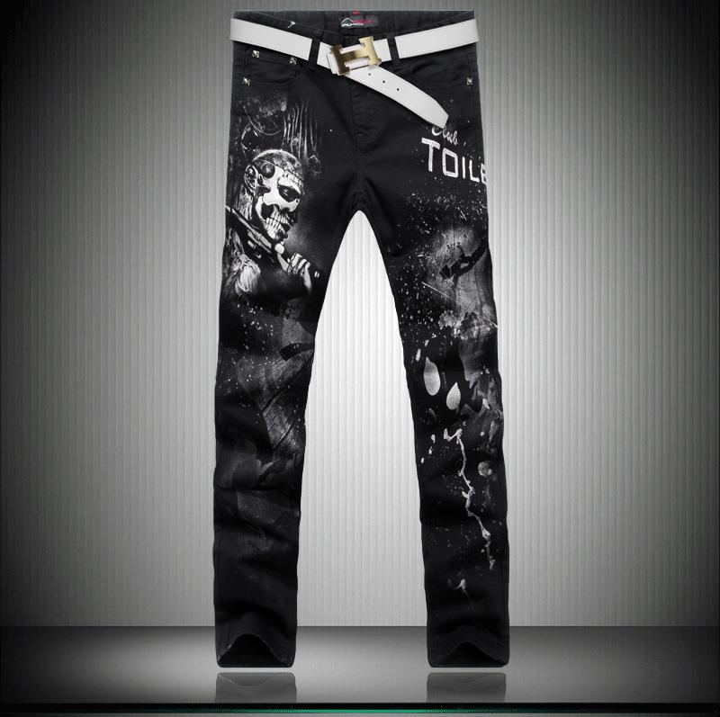 high quality mens clothing fashion casual denim trousers