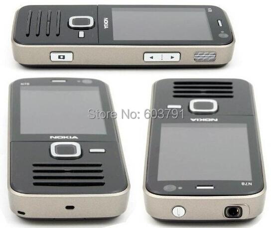 Unlocked Original Nokia N78 GSM 3G network WIFI GPS 3.15MP camera 2.4 inch Screen Mobile Phone 1 Year Warranty Free shipping(China (Mainland))