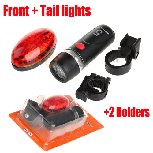 Outdoor Ultra Bright LED Front Rear Light Traffic signal Indicator lights 2015 Sport Brand New Bicycle Lights + holder Set(China (Mainland))
