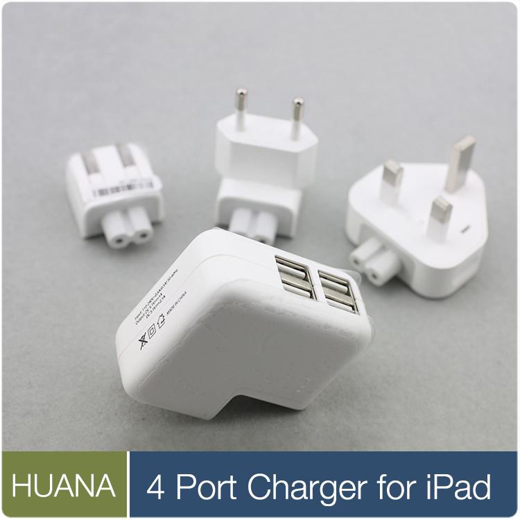 US EU UK plug 4 Ports USB Charging Wall Charger Power Supply Adapter for iPhone 6 5s 5 iPad Air iPod nano Samsung Android phone(China (Mainland))