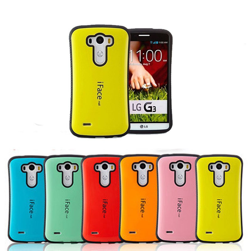 Hybrid Silicone Smooth Hard Rubber Case for LG G3 tough armor Hard Back cell Phone Cover Bags for g3 D855(China (Mainland))