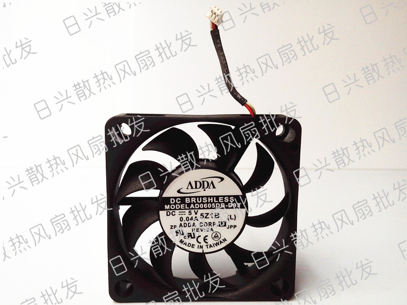 Used Free Shipping DC5V 0.04A Server Cooling Fan For ADDA AD0605DB-D93 Server Square Fan 3-wire 60x60x15mm <br><br>Aliexpress