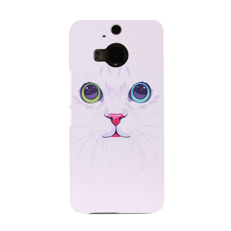 Cartoon cat Fashion Icon Hard Colorful Telephone Case for HTC M9 and M9 PLUS(China (Mainland))