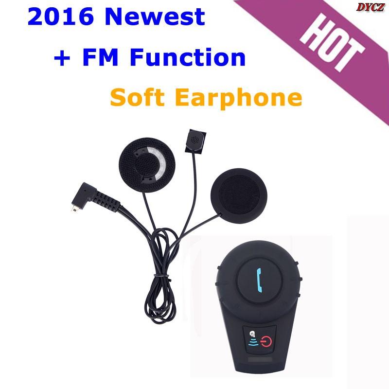 2016 Newest +FM Radio! 500M BT Bluetooth Motorcycle Helmet Intercom BT Interphone Intercomunicador Motocicleta(China (Mainland))