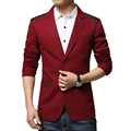 2015 New Fashion Brand Mens Jacket PU Pachwork Korean Slim Fit Mens Designer Clothes Men 100% Cotton Casual Jacket Plus Size 5XL