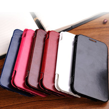 S252 New Causal Brown Luxury Deluxe Flip Leather Case Cover for Samsung Galaxy Note 2 N7100 Mobile Phone Cases(China (Mainland))